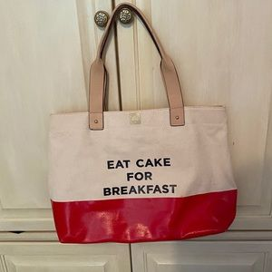 KATE SPADE EAT CAKE FOR BREAKFAST TOTE